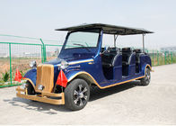 Aluminum Chassis Classic Golf Cart Shuttle Bus With Roof For Scenic Using