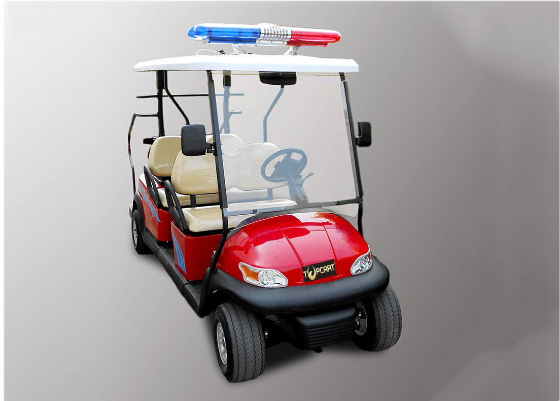 Street Legal Police Security Patrol Car 4 Seater For Community / Factory