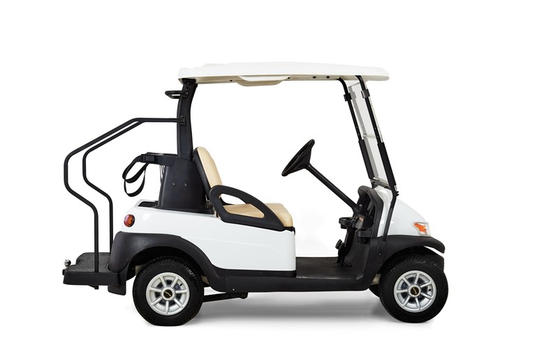Modern Style Electric Car Golf Cart 2 Seater White Color For Golf Course