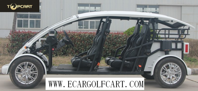 White Color 4 Passenger Golf Cart 3kw Or 5 Kw Motor , 40KM/H Max Speed