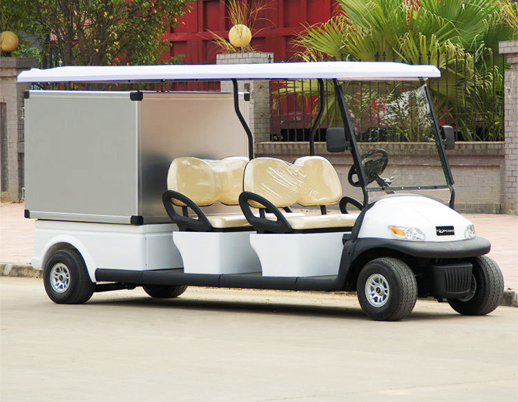 48V Electric Utility Golf Cart With Rack on Roof For Hotel Room Service