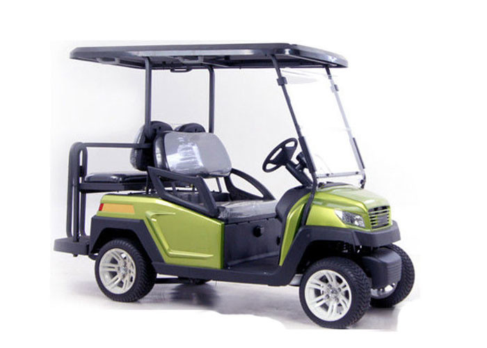 48V Battery Operated Golf Cart , 4 Seater Electric Car With Flip Flop Seats For Hunting