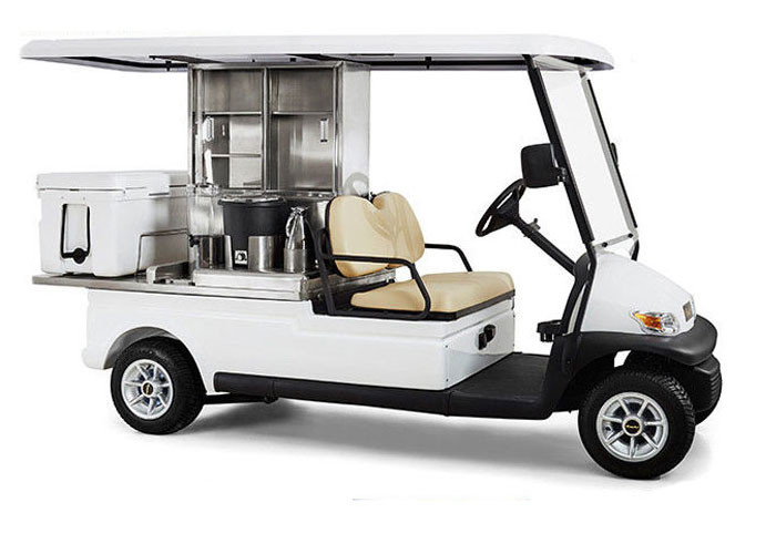 Electric Utility Golf Beverage Cart 48v Battery Power With Ice Box