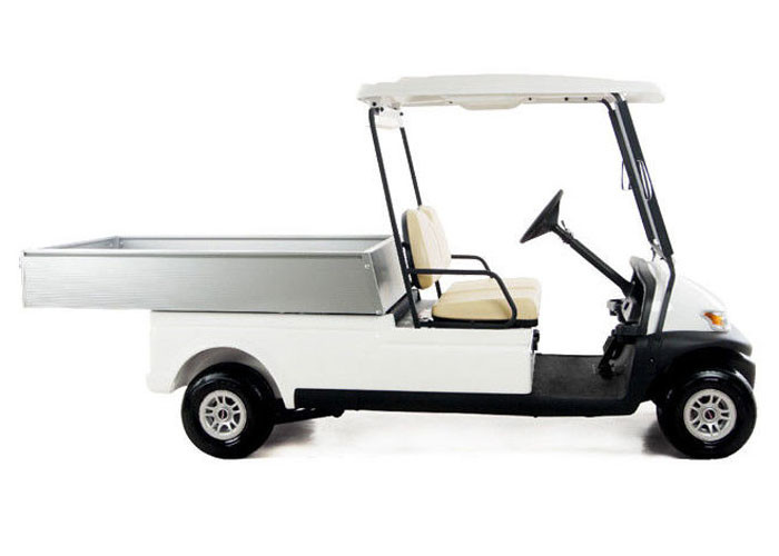 Electric 48v  transportation Utility Golf Cart With Silver Aluminum box For Resorts