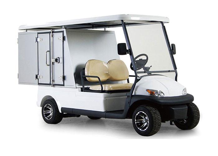 Aluminum Box Utility Golf Cart Street Legal With 2 Seats / Cargo Bed Battery Powered